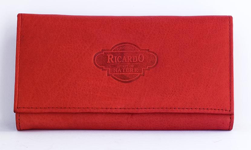 Kožená dámská peněženka Ricardo červená