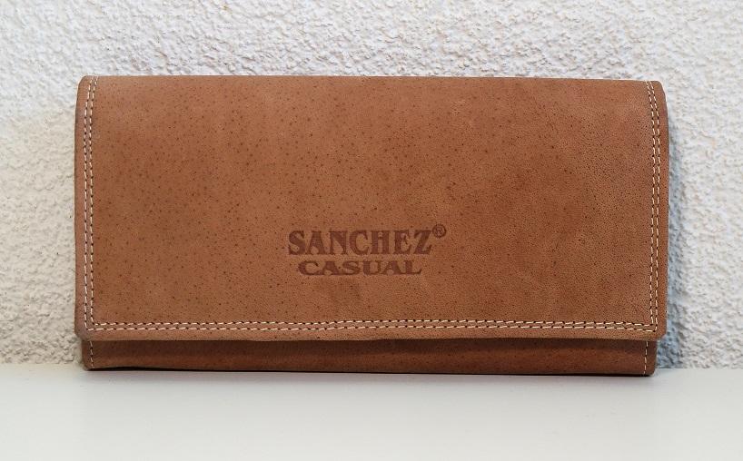 Kožená dámská peněženka SANCHEZ Casual světlehnědá