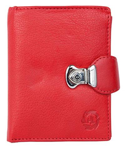 Kožená dámská peněženka Gazello červená na výšku