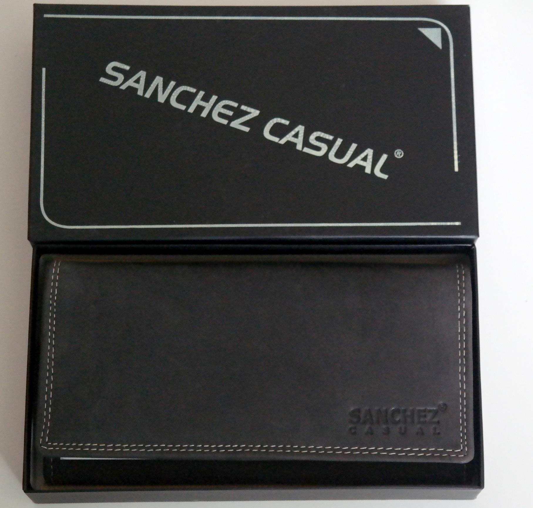 Kožená dámská peněženka SANCHEZ Casual černá podélná