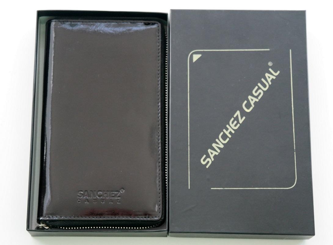 Kožená dámská peněženka SANCHEZ Casual černá celozipová
