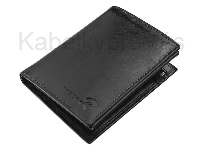 Kožená pánská peněženka Ronaldo N4 - VT černá | KabelkyproVas.cz