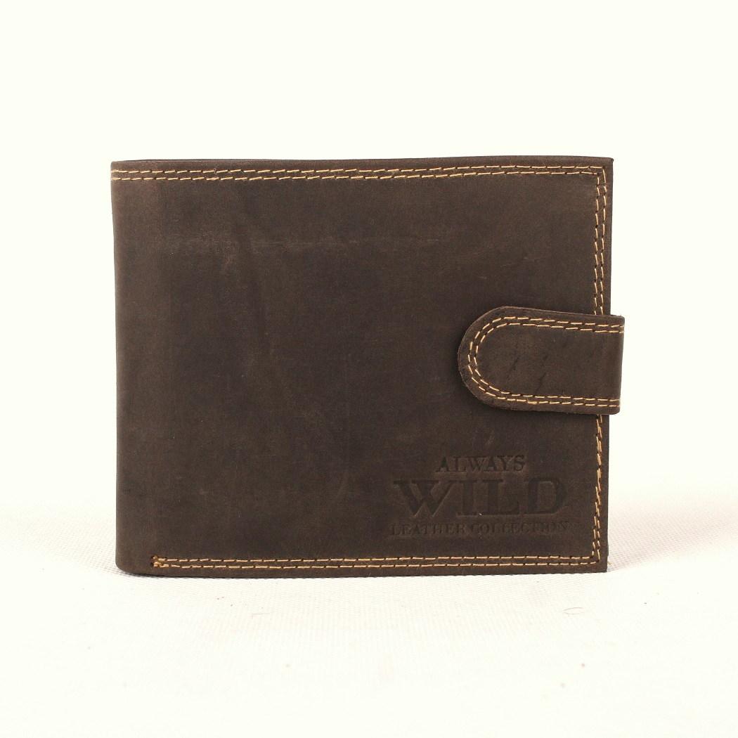 Kožená pánská peněženka Always Wild N992L-MH tmavěhnědá | KabelkyproVas.cz