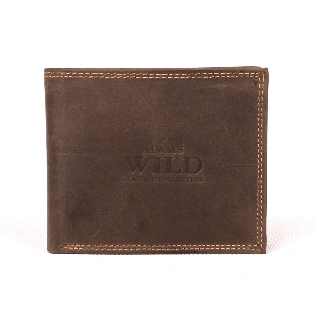 Kožená pánská peněženka Always Wild N992-MH tmavěhnědá | KabelkyproVas.cz