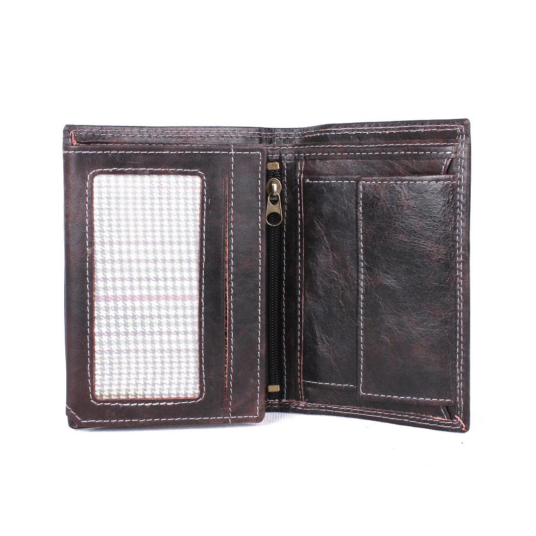 Pánská kožená peněženka Always Wild N890-MCR černo-hnědá | KabelkyproVas.cz