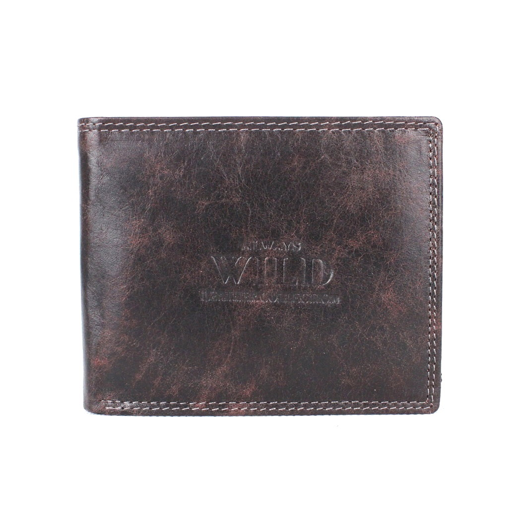 Pánská kožená peněženka Always Wild N992-MCR černo-hnědá | KabelkyproVas.cz