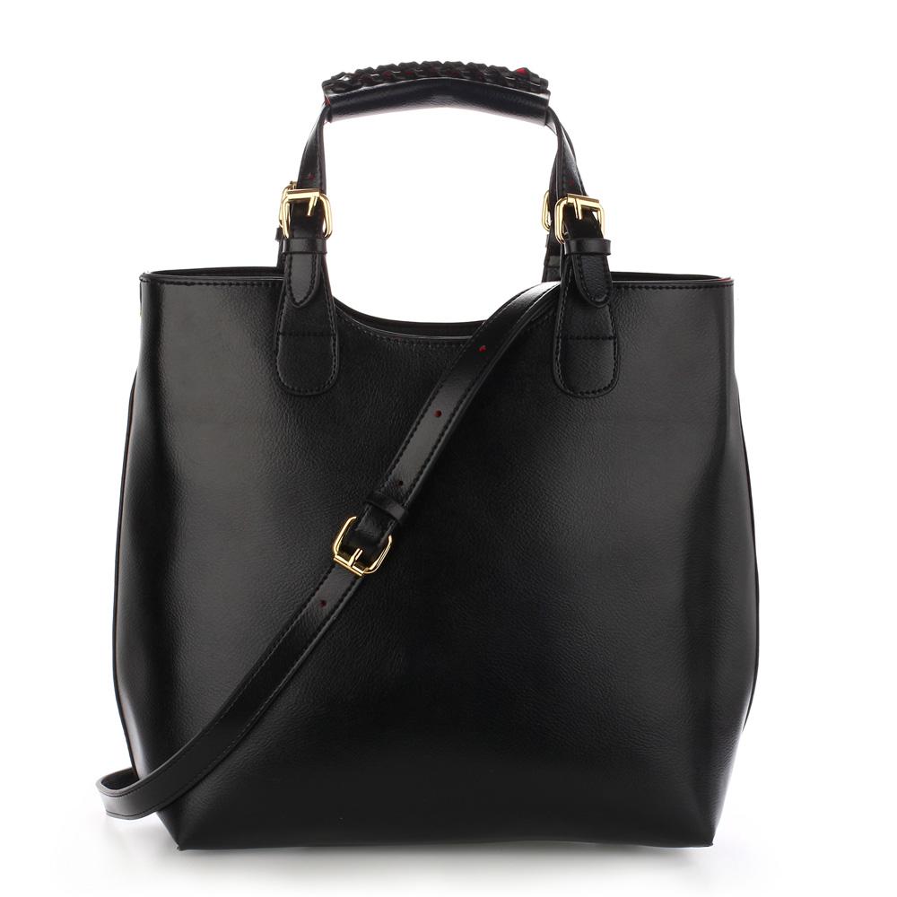 Shopperbag kabelka do ruky LS00267 černá