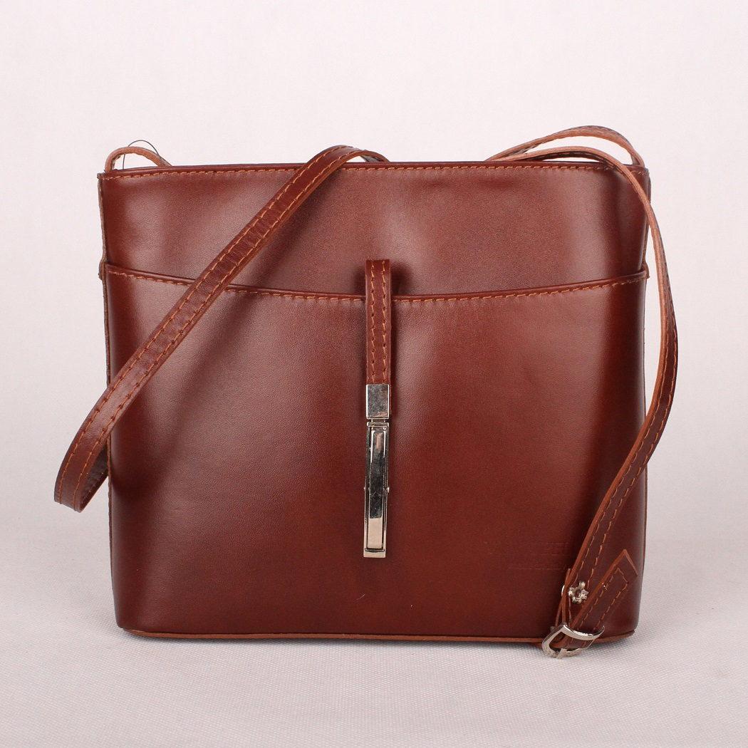 d371f6fdf2 Dámská kožená kabelka crossbody kabelka no. 44 hnědá