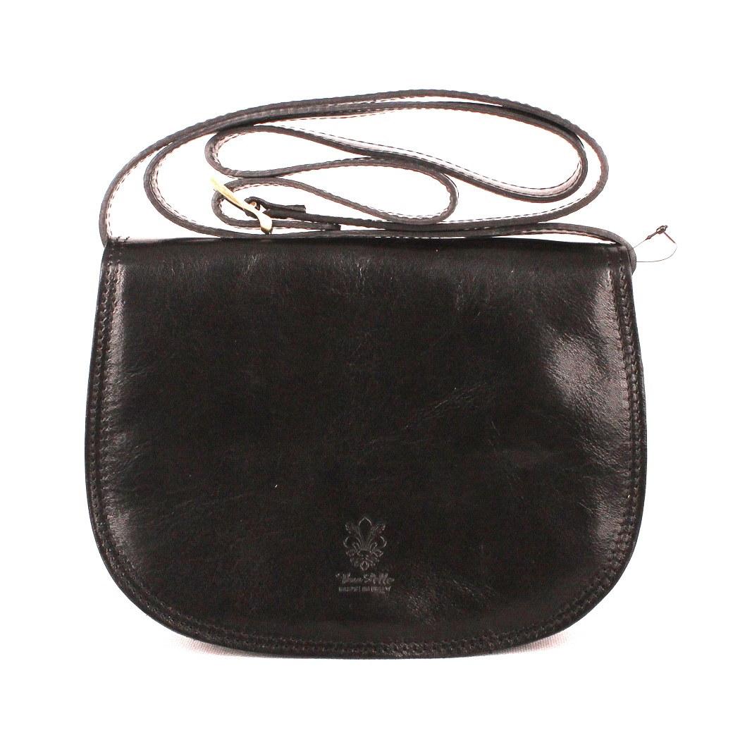 Dámská kožená crossbody kabelka no. 49 černá | KabelkyproVas,cz