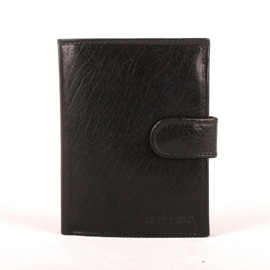 Pánská kožená peněženka Bellugio černá | KabelkyproVas.cz