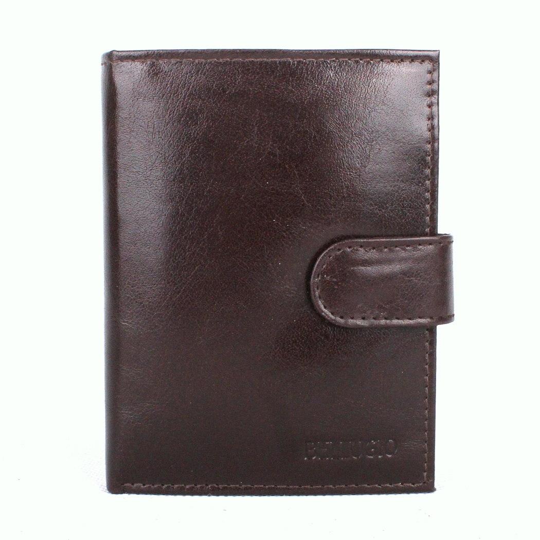 Pánská kožená peněženka Bellugio (AM-01-072A) tmavěhnědá | KabelkyproVas.cz