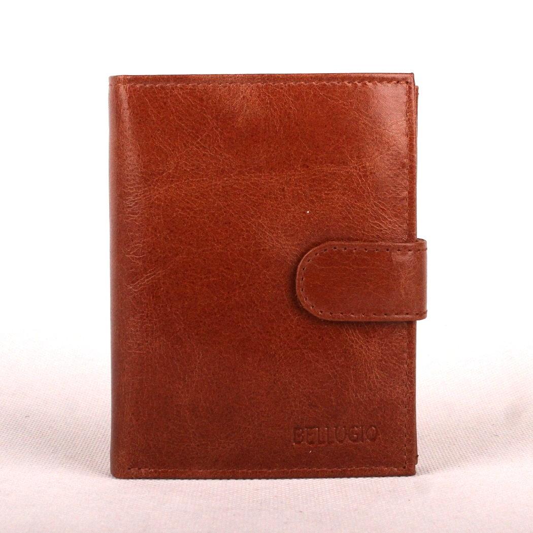Pánská kožená peněženka Bellugio (AM-01-072A) světlehnědá (cognac) | KabelkyproVas.cz