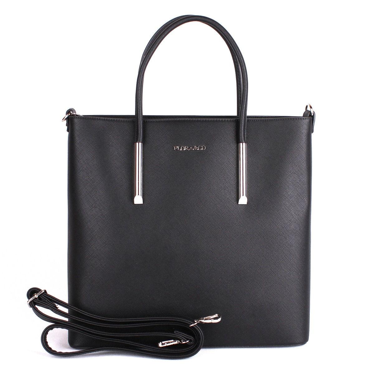 Elegantní kabelka FLORA&CO F5645 černá