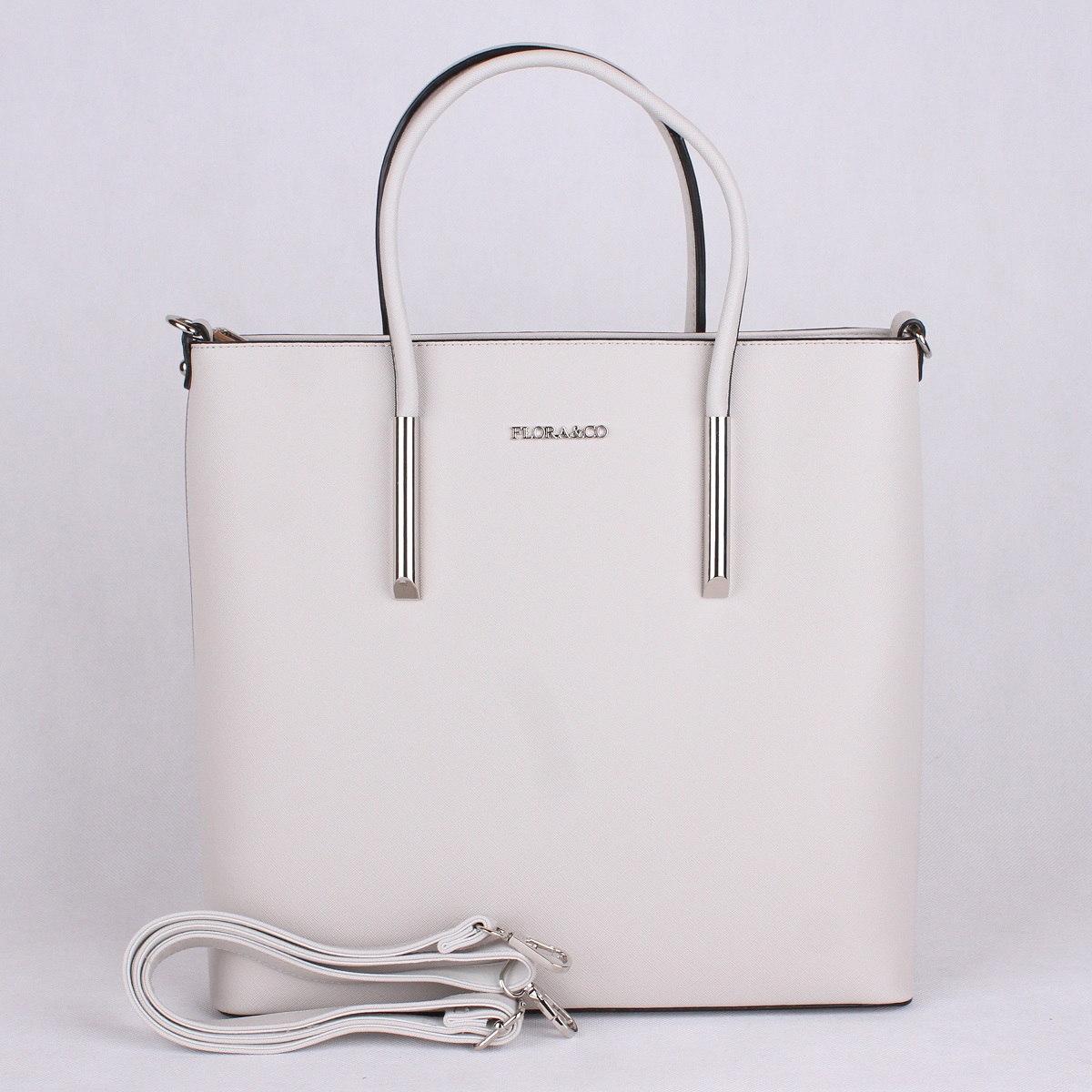 Elegantní kabelka FLORA&CO F5645 světlešedá