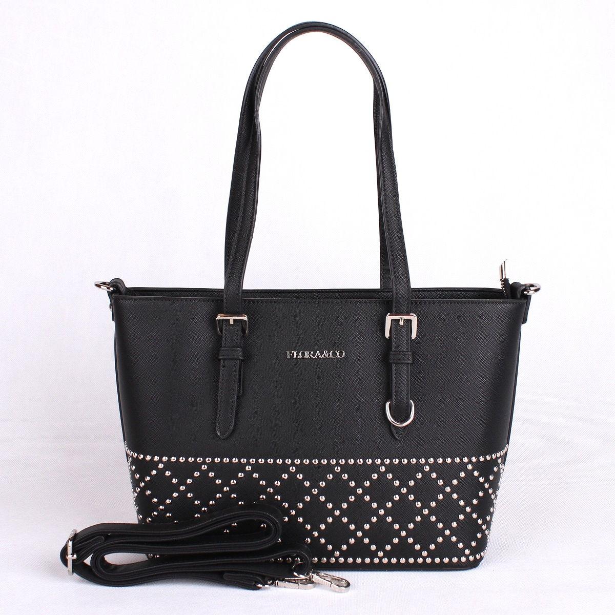 Elegantní kabelka FLORA&CO F6376 černá