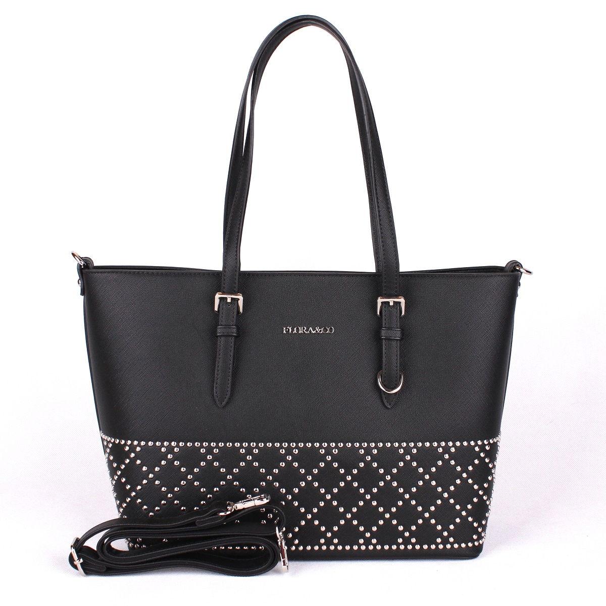 Elegantní kabelka FLORA&CO F6375 černá