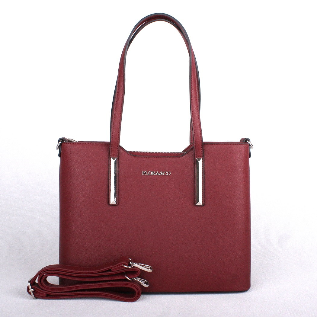 Elegantní kabelka do ruky i na rameno FLORA&CO F5983 červená