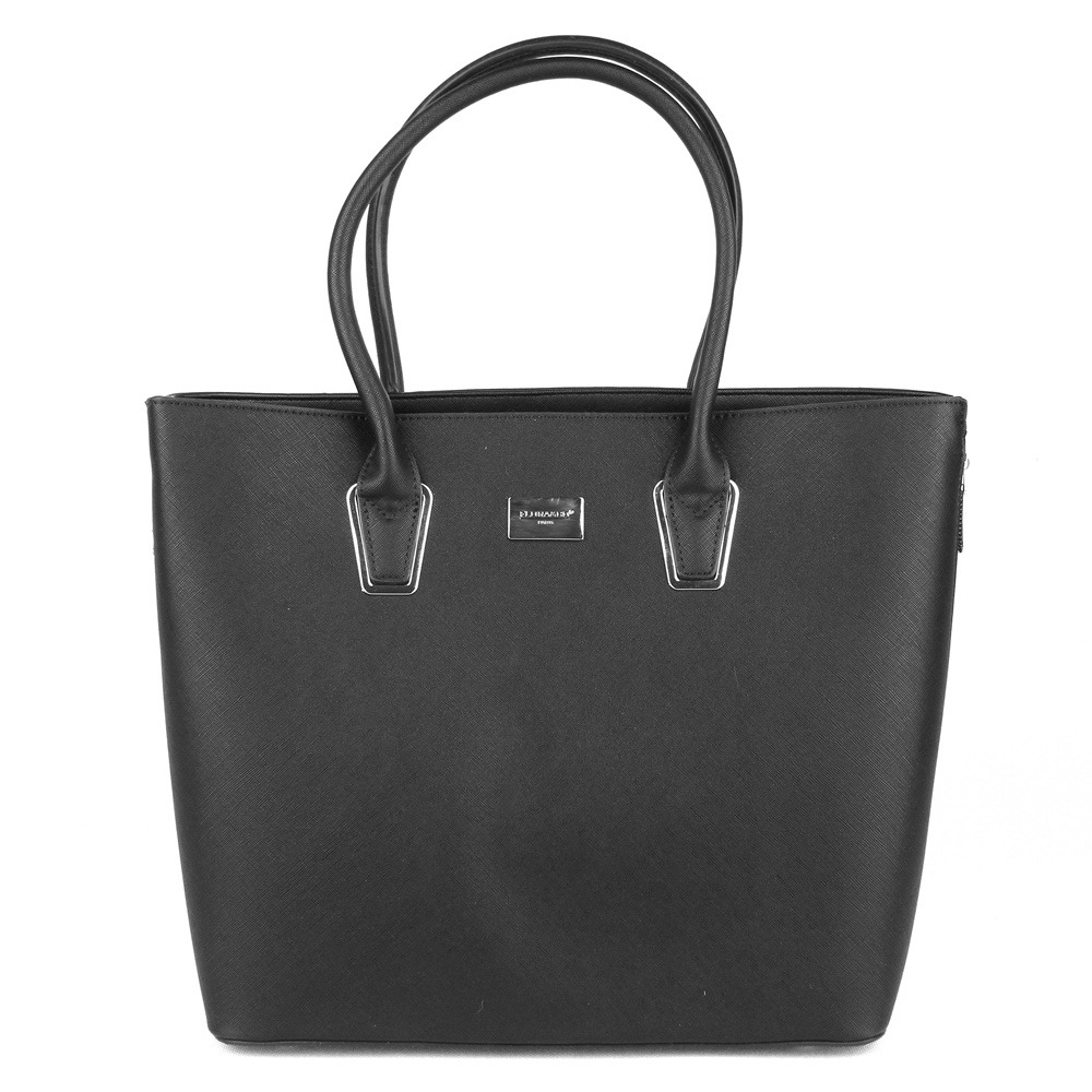 Velká pevná elegantní kabelka FLORA&CO F9246 černá