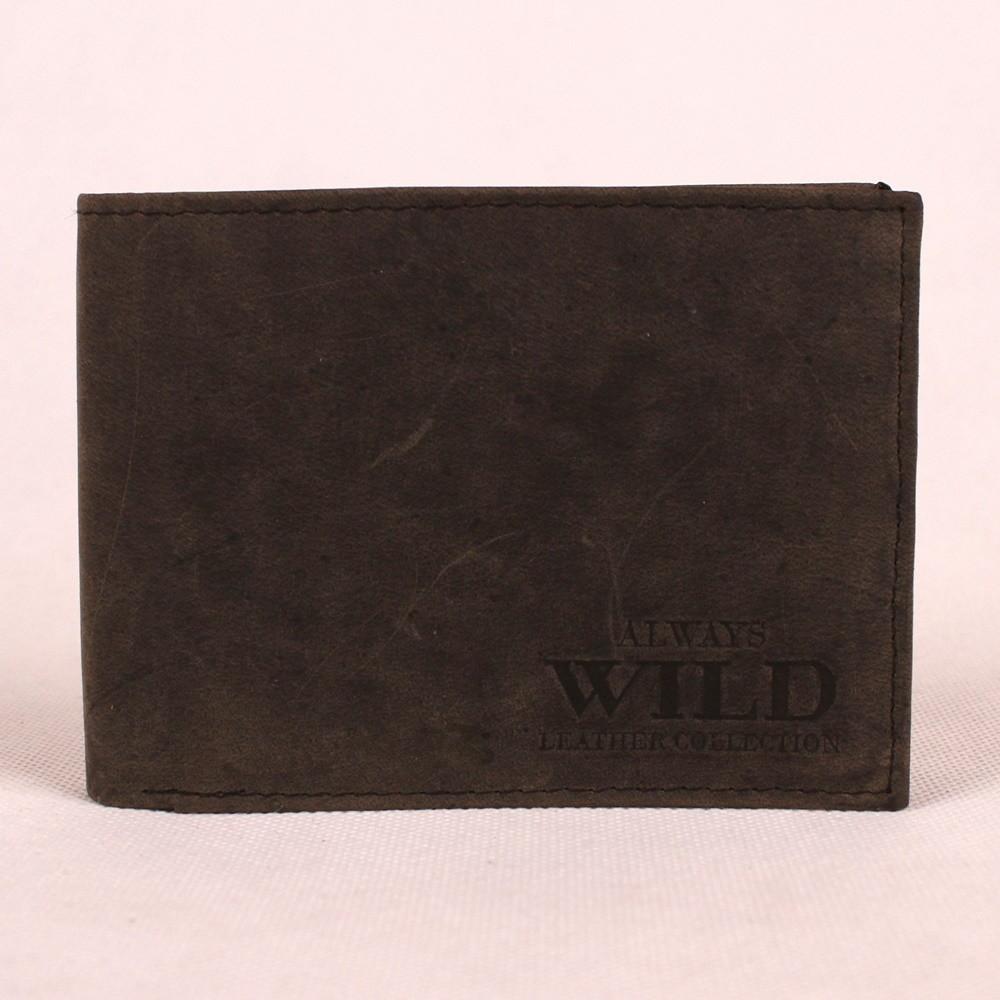 Pánská kožená peněženka Always Wild N992 Crazy černo - šedá   KabelkyproVas.cz
