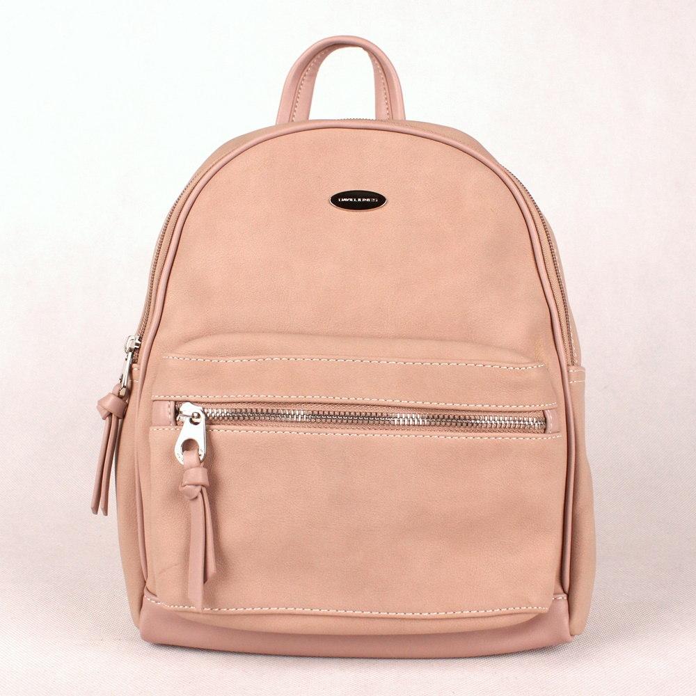 0e8ad0f33 Dámský městský batoh David Jones CM3708 s obsahem 9l růžový |  KabelkyproVas.cz