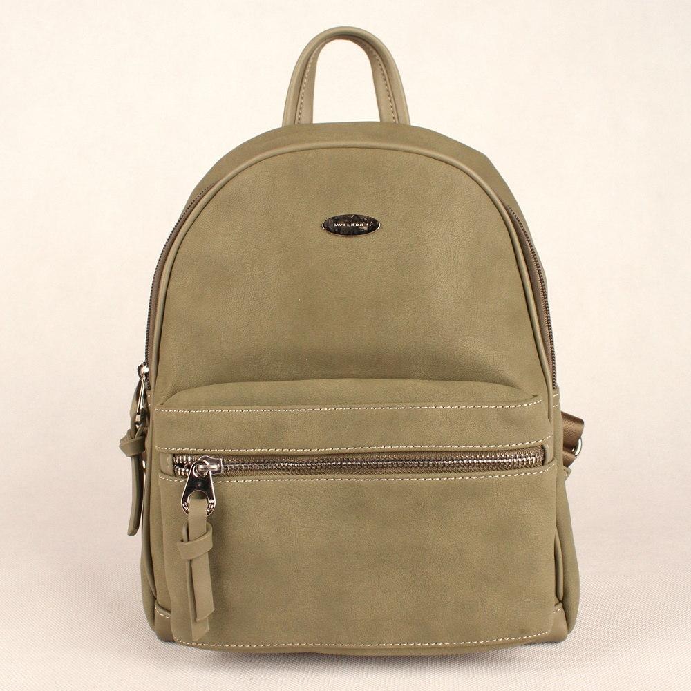 Dámský městský batoh David Jones CM3708 s obsahem 9l zelený (khaki) | KabelkyproVas.cz