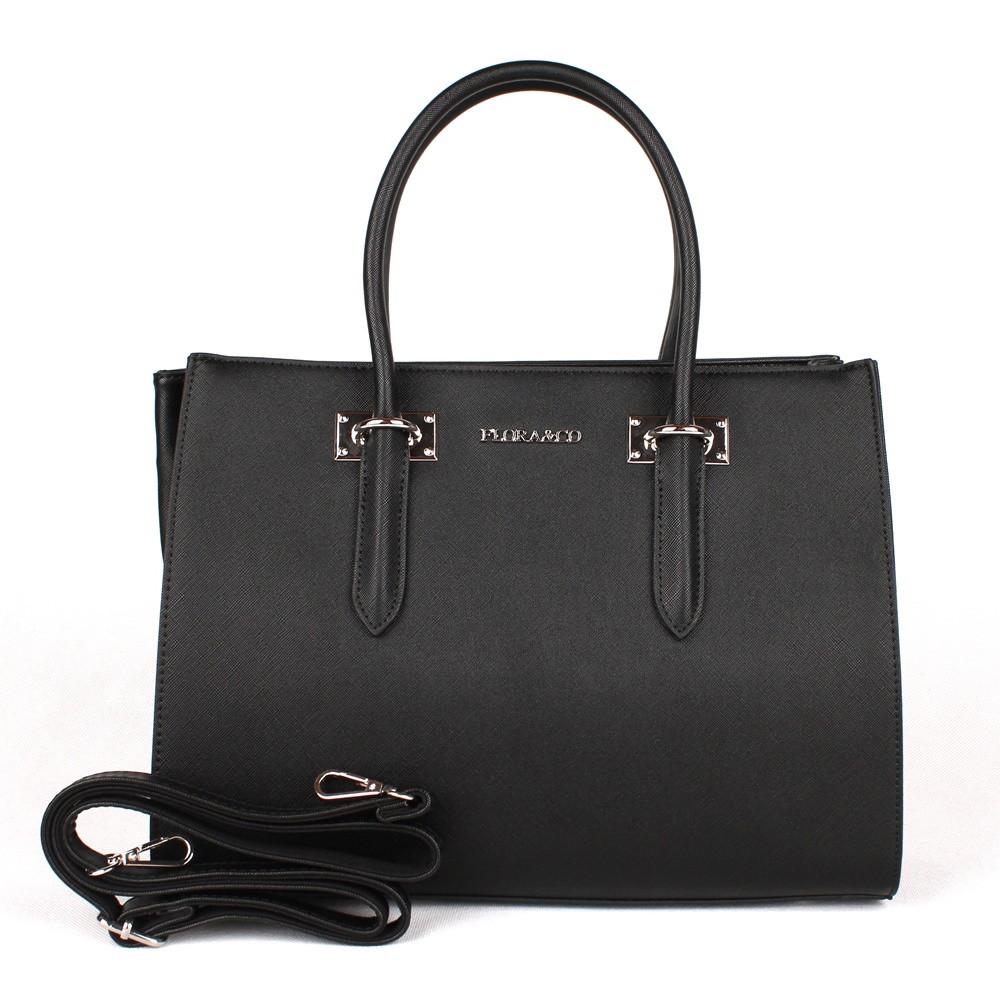 Dámská elegantní kabelka do ruky FLORA&CO F6371 černá | KabelkyproVas.cz