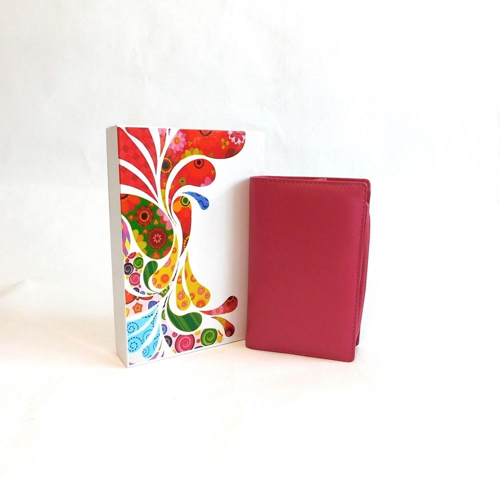 Dámská kožená peněženka Vera Pelle CL401 růžová | KablekyproVas.cz