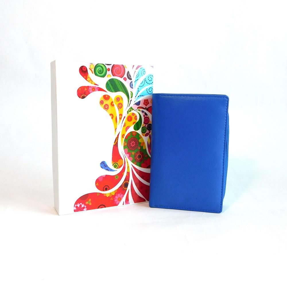 Dámská kožená peněženka Vera Pelle CL401 modrá | KabelkyproVas.cz