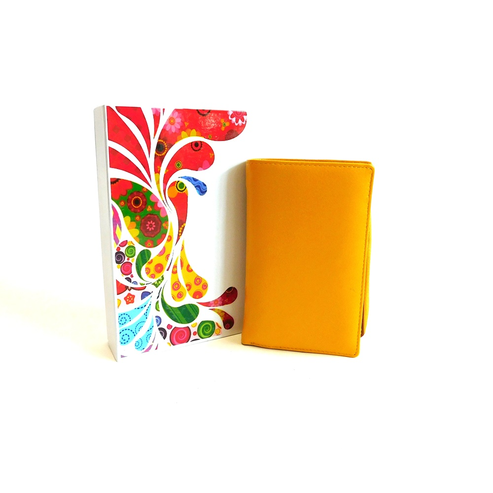 Dámská kožená peněženka Vera Pelle CL401 žlutá | KabelkyproVas.cz