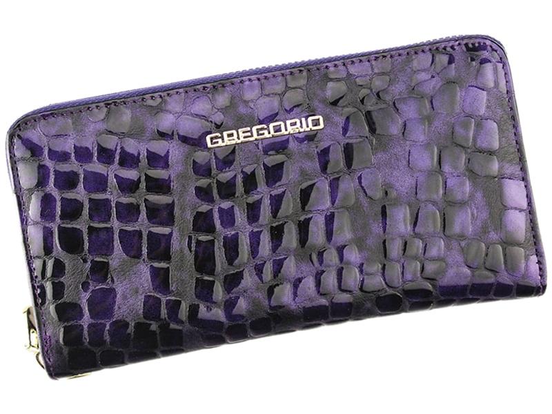 Dásmká leklá peněženka celozipová Gregorio FS-119 fialová