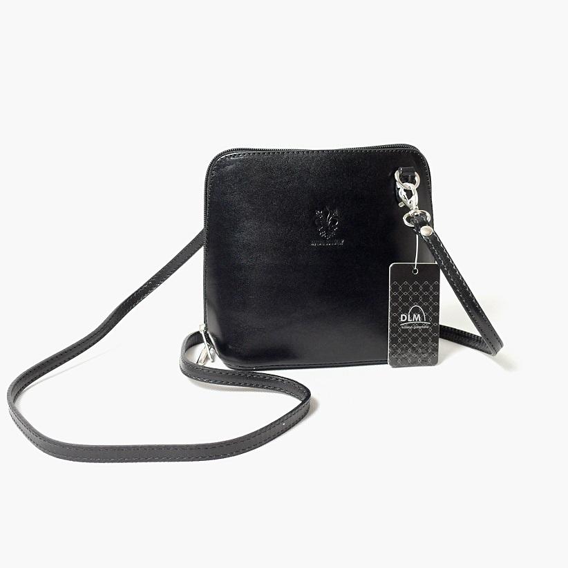 Kožená kabelka KPVK2 černá