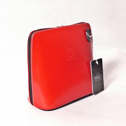 Kožená kabelka KPVK2 červená