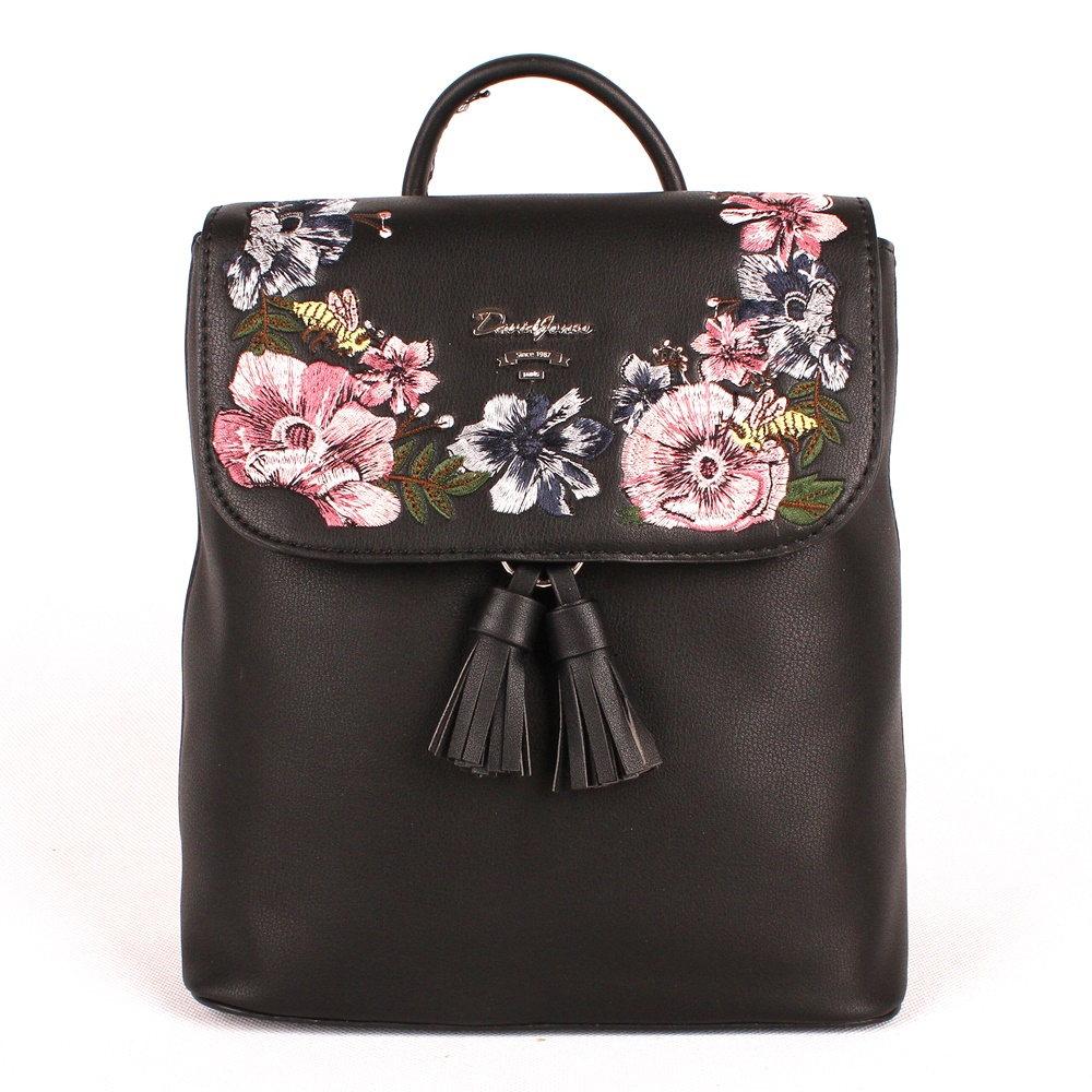 Dámský městský batoh David Jones 5862-3 s obsahem 5l černý  290985dafa