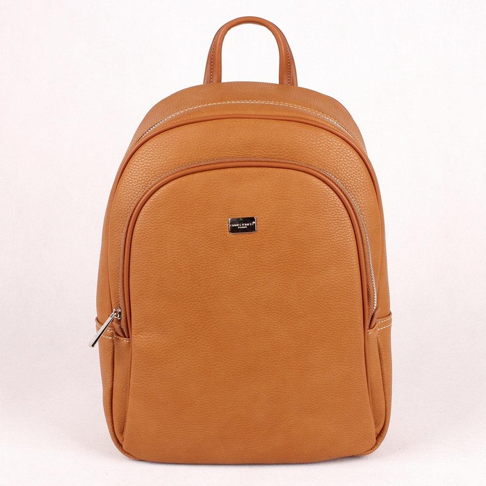 aad13c004a Středně velký městský batoh DAVID JONES CM5025 hnědý