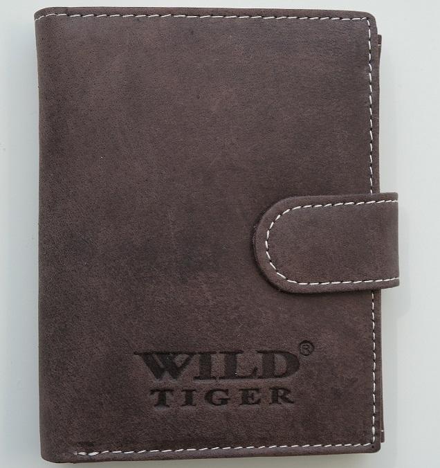Peněženka Wild Tiger tmavěhnědá
