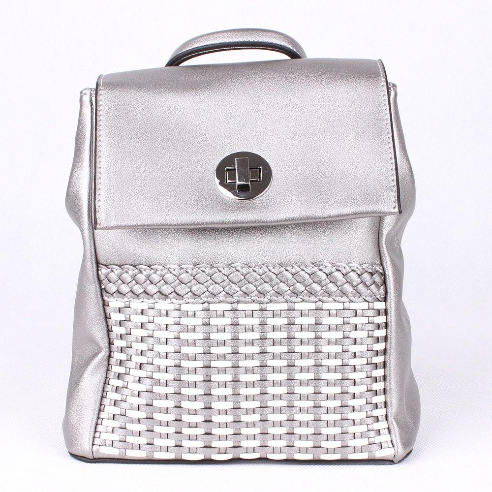 31c5e613dd Malý městský batoh David Jones 5972-2 stříbrný