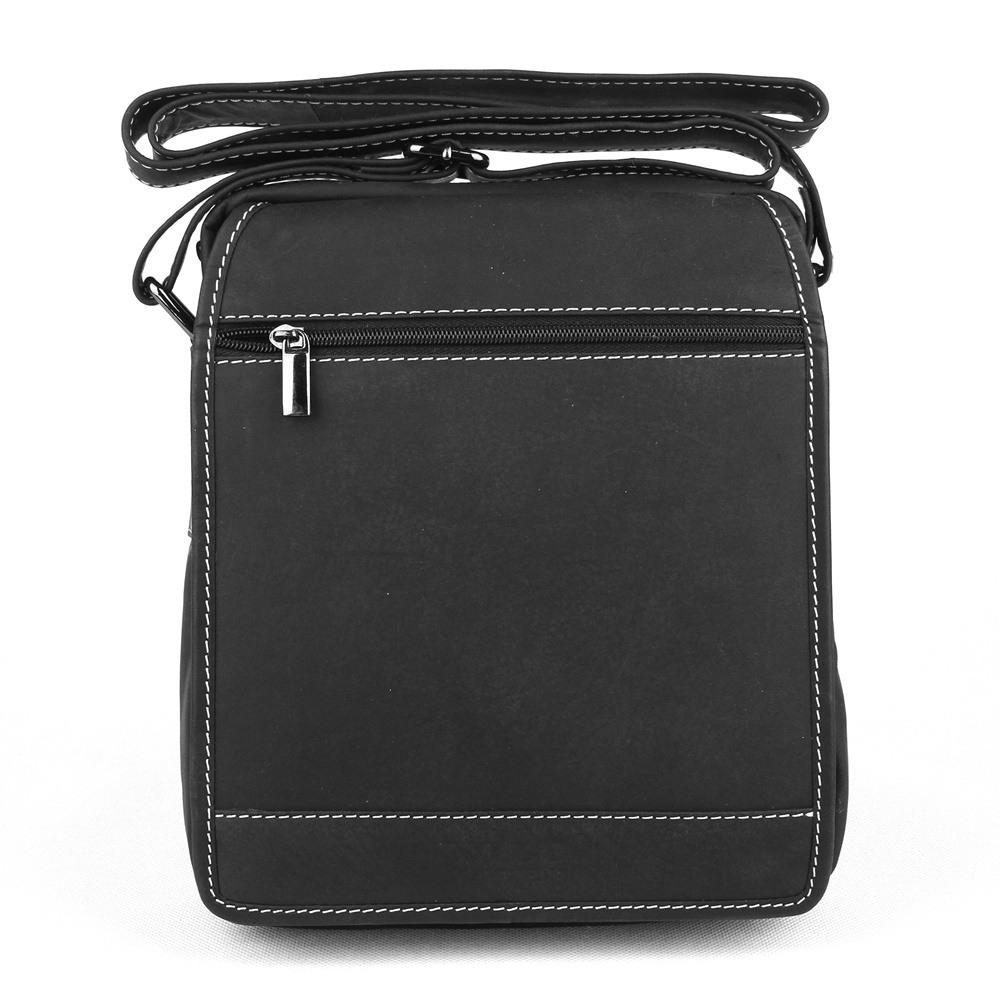 4322bb0f6f Pánská černá kožená taška Wild Tiger no. 664
