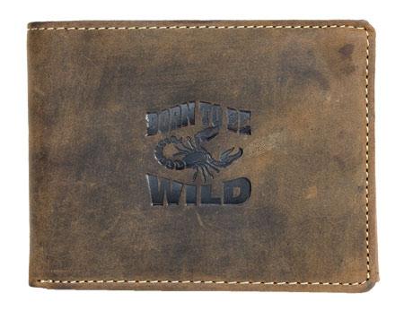 Peněženka Wild hnědá se škorpinem