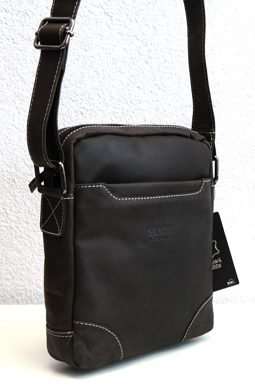 Kožená taška Sanchez no. 700 tmavěhnědá