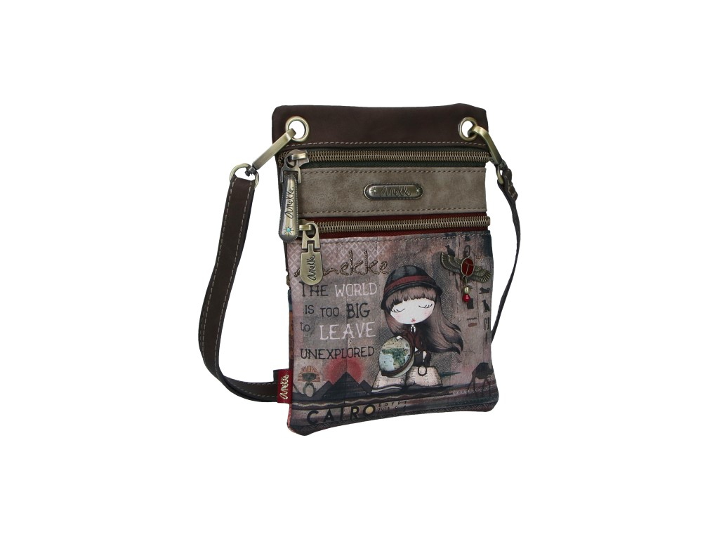 Anekke Egypt mini crossbody s motivem Exploradora