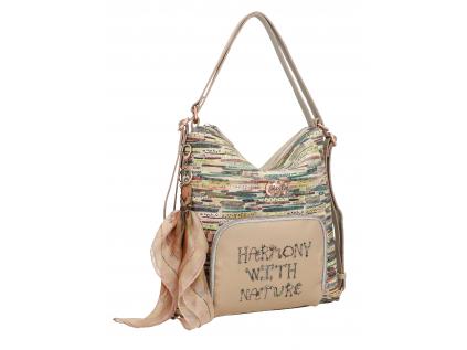 Anekke kabelka a batoh s vinylovou kapsou Jungle
