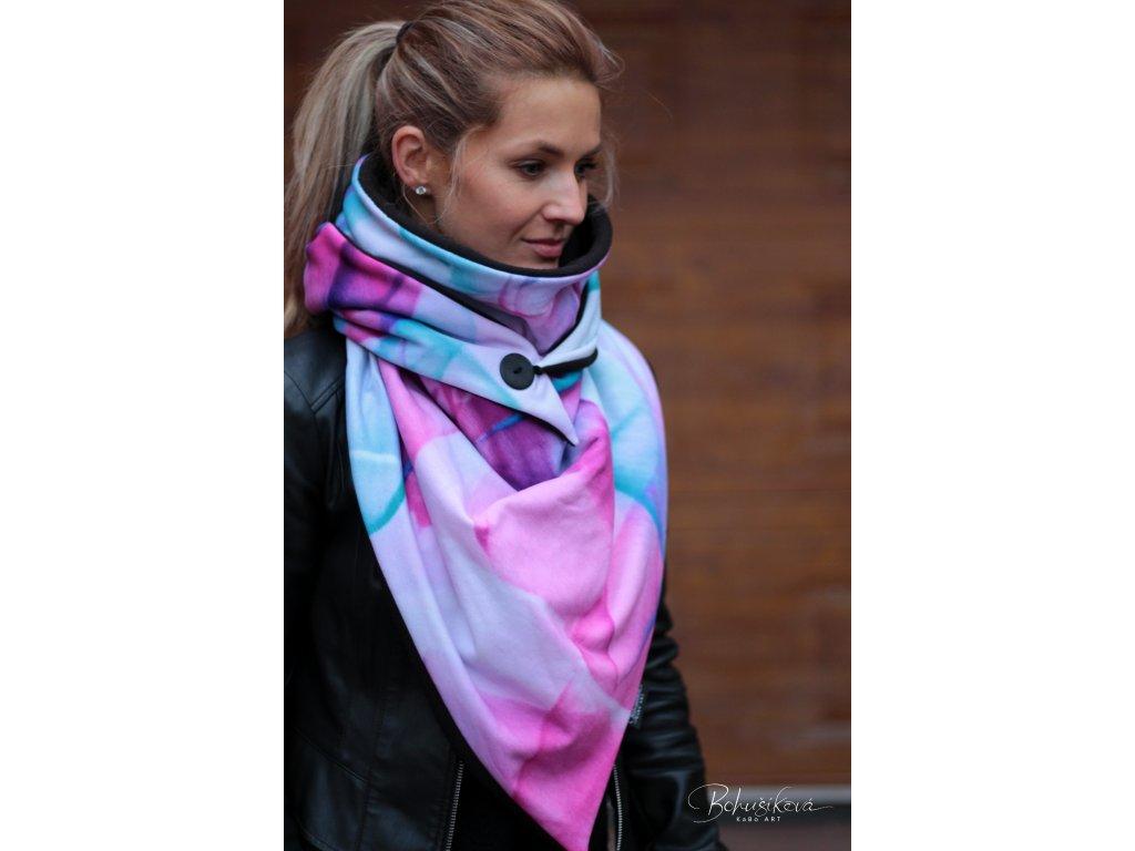 Šátek zimní - Pastel