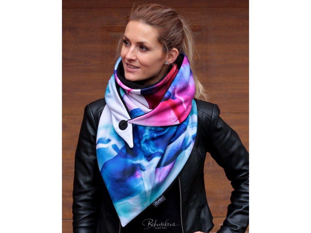Šátek zimní - Vlnobití 1