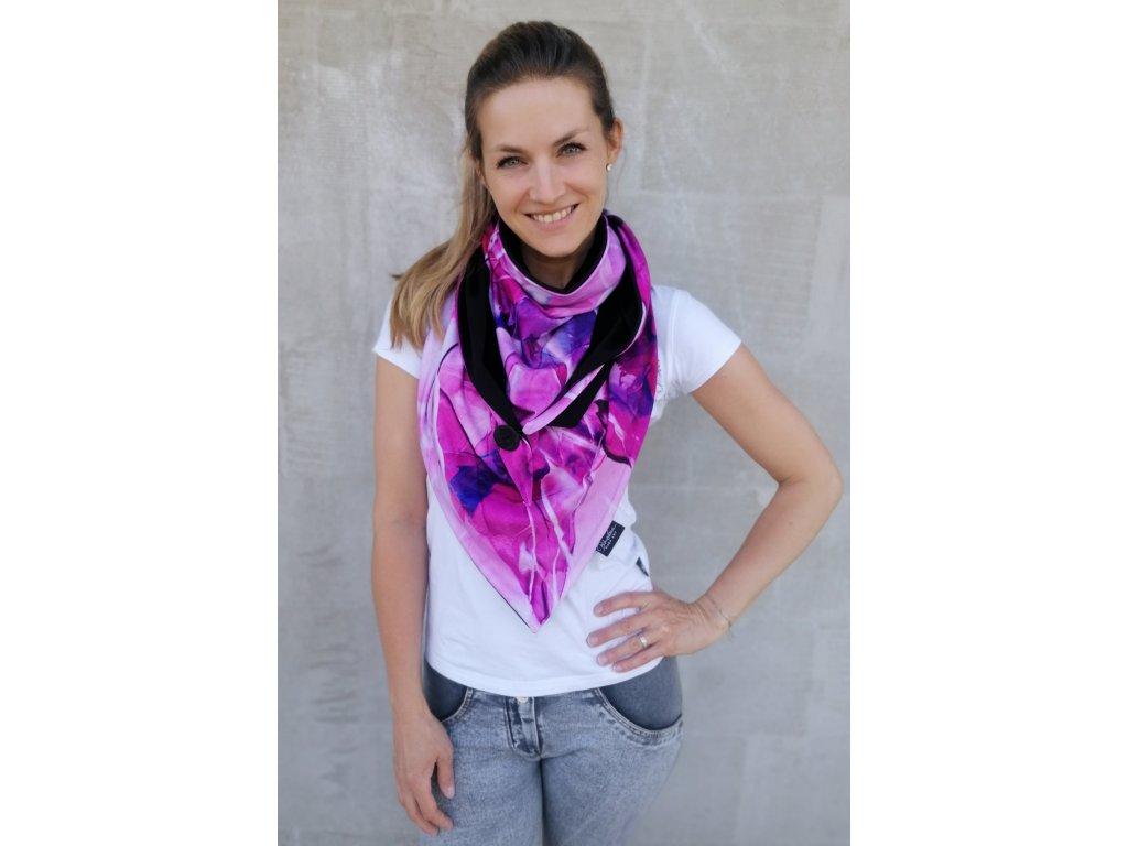 Šátek design - Mávnutí2