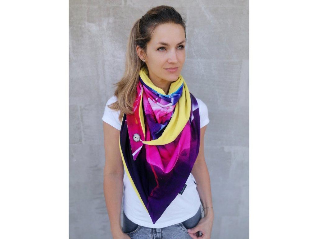 Šátek design - Ohňostroj1