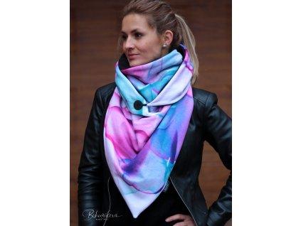 Šátek zimní - Pastel2