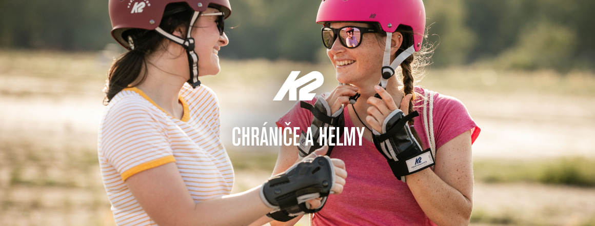 K2 chrániče a helmy