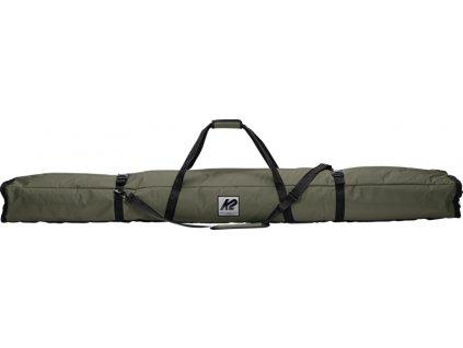20E5001 1 3 Double Padded Ski Bag Green