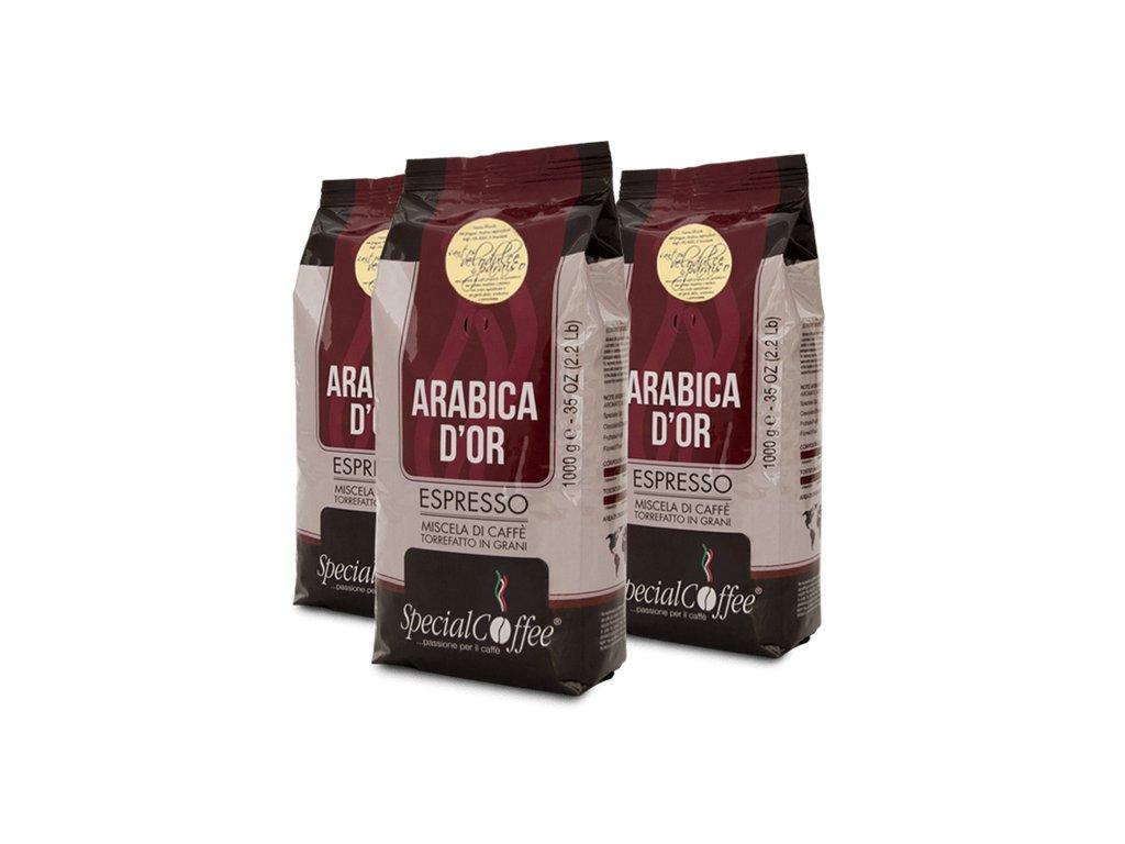SpecialCoffee Arabica dOro Santos Velodulce & Paraiso 1 Kg zrnková káva