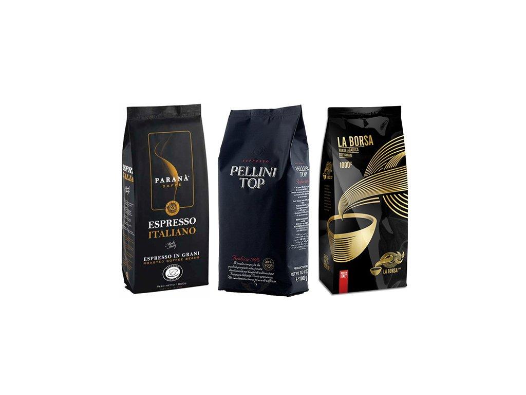 Zvýhodněné balení kávy 3x1 Kg TOP